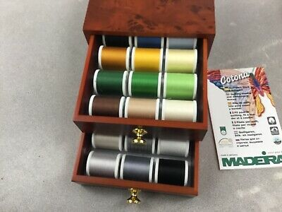 Madeira Thread Chest With 30 Spools Of Premium Quilting Thread Great Chest