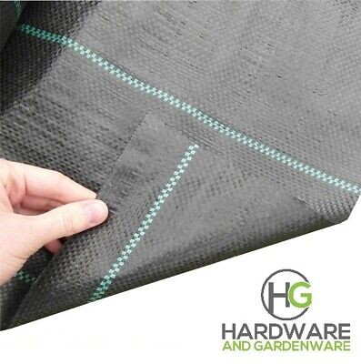Heavy Duty 100gsm Weed Control Fabric Ground Cover Membrane Garden Landscape