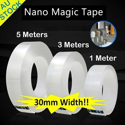 Strong Nano Magic Tape Traceless double sided adhesive Craft Reusable Clear Gel