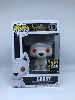 Funko Pop! Game of Thrones Ghost #19 Flocked SDCC 2014 Exclusive w Protector