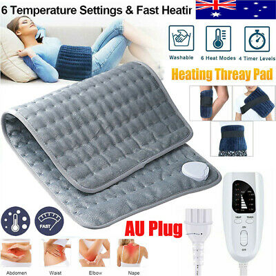 Electric Heating Pad Auto Off Heat Therapy Fast Neck/Shoulder/Back Pain Relief