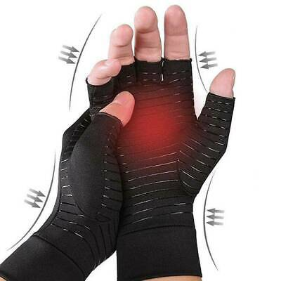 Compression Anti Arthritis Gloves Fingerless Medical Support Therapeutic Copper