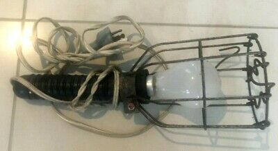 Vintage Industrial Wire Cage Light Lamp