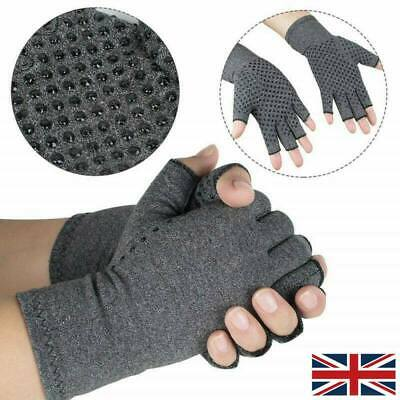 Anti Arthritis Copper Fingerless Gloves Compression Therapy Circulation Relief