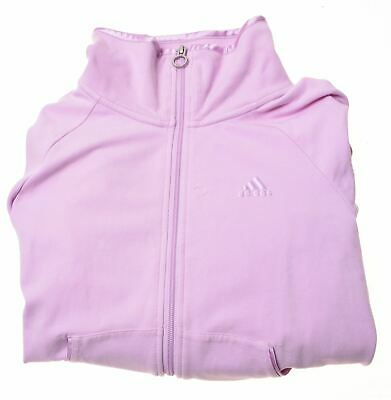 ADIDAS Girls Tracksuit Top Jacket 11-12 Years Pink Cotton  GD10