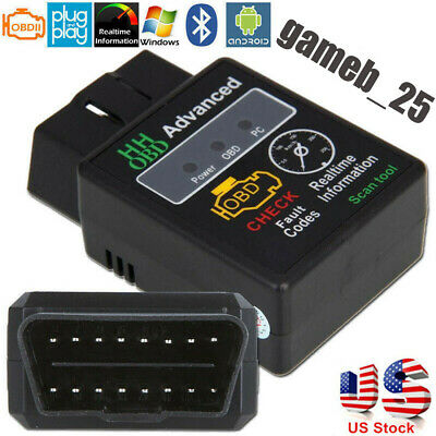 OBD2 ELM327 V2.1 Bluetooth Car Scanner Android Torque Diagnostic Scan Tool Y2P4