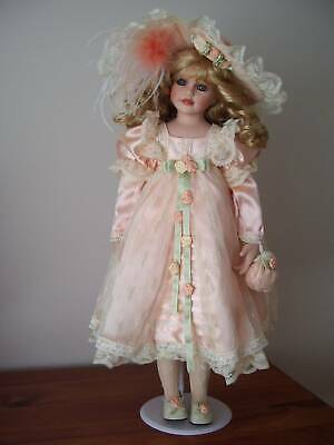Porcelain Doll named Lucille, Hillview Lane Enchanted Keepsakes