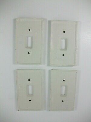 Vintage Cast Switch Plate Covers 4 Plates Cover White Painted Distressed