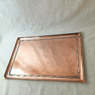 Copper Tray Arts and Crafts Movement Rectangular John H Green Artificers Guild