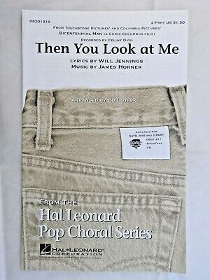 Then You Look at Me from Bicentennial Man single sheet music 2-part