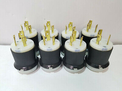 Lot of 10 Hubbell HBL 2621 L6 30P Male Twist Lock Connector plugs 2P3W 30A 250V