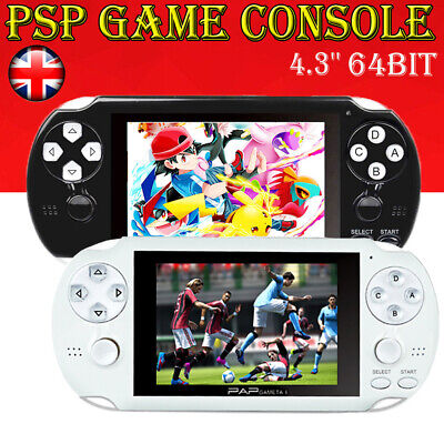64Bit Handheld PSP Game Console Player Built-in Games 4.3'' Portable Consoles