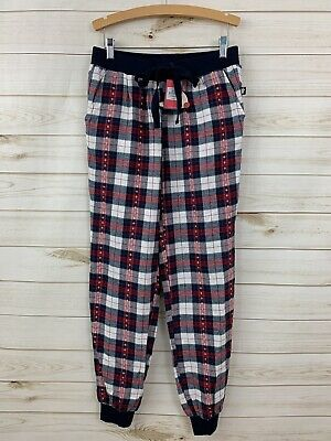 NEW Primark Love to Lounge Women's Red Plaid Flannel Jogger Sleep Pants. Size XS