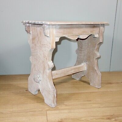 Small Limed Oak Table, arts crafts gothic, nationwide delivery available