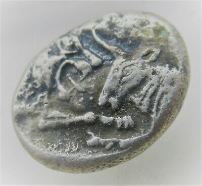 Ancient Greek Silver Half Stater Coin Kings Of Lydia Kriosos