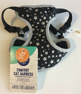 """(New) Whisker City Comfort Cat Harness Reflective Girth 13 - 16""""(33.0-40.6cm)"""