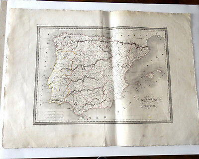 Card Spain and Portugal circa 1820 Malta-Brown Grav Thierry