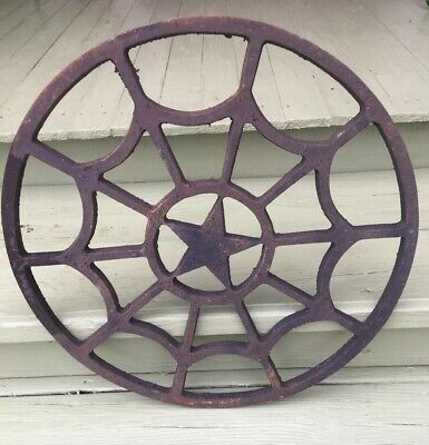 Vintage/Antique Ornate Cast Iron Salvage Air Vent ( Top Of Old Building! ) Heavy