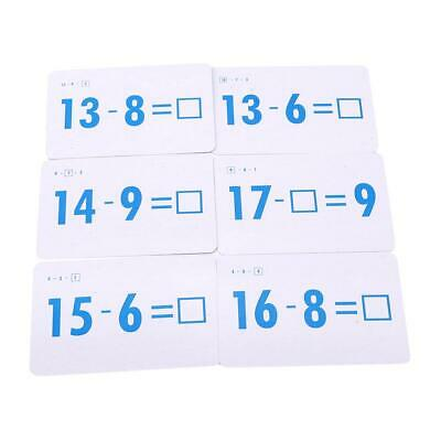 Math Card Addition Subtraction Multiplication Division Kid Early Learning Toy HD