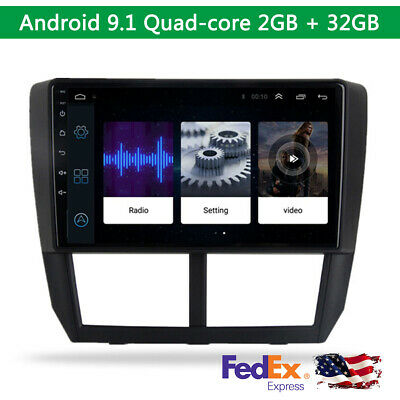 9'' Android 9.1 Touch Screen 2GB+ 32GB Stereo Radio GPS WIFI For Subaru Forester