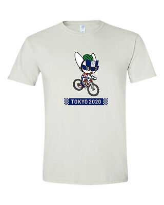 Miraitowa Cycling Mountain Bike Tokyo 2020 Summer Olympics Games T-Shirt S - 2XL