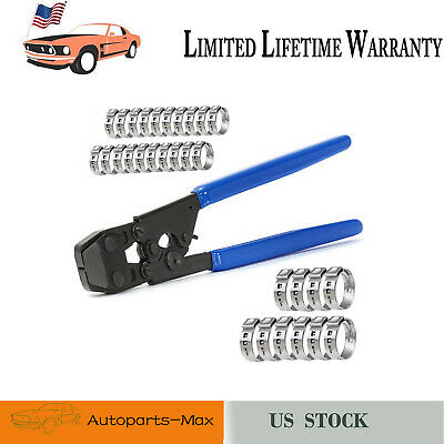 High Quality Stainless Steel PEX Pipe Cinch Crimping Tool With Clamp Blue