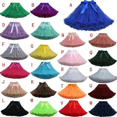 Women Fashion Solid Color Dance Party Dance Ballet Tutu Gauze Bubble Skirts