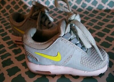 Nike Air Baby Toddler Size 3C Boys Girls Light Blue Lace Up Sneakers Shoes