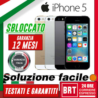Smartphone Apple Iphone 5 5G 16Gb/32Gb/64Gb Rigenerato_Originale 12 Mesi Gar It!