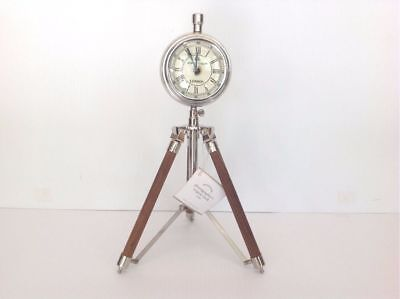 Pottery Barn Photographer's Tripod Clock New Sold Out At Pb Rare Free Shipping