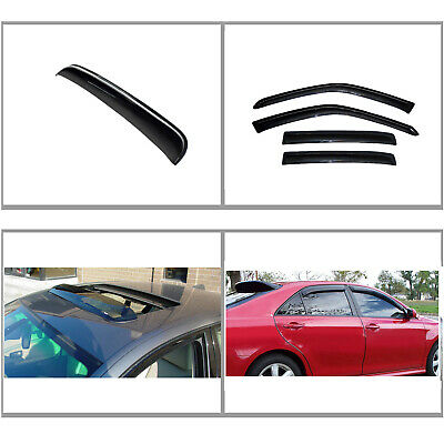 Out Channel Window Visors Deflector Rain Sunroof 5pcs For Nissan Sentra 07-12