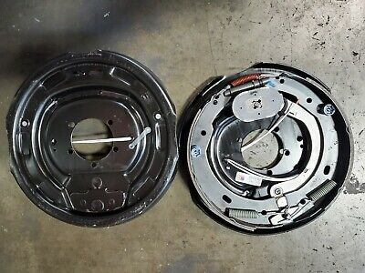 4pc Electric Trailer Brake 12 x 2 Assembly Right /& Left SIde 6000 7000 Axle