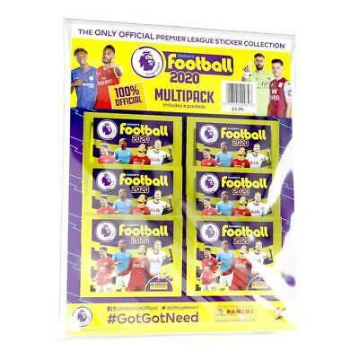 Panini's Football 2020 - Premier League Multipack (6 Packs of Stickers)