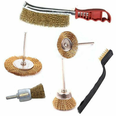 6Pcs Heavy Duty Drill Wire Wheel Cup Flat Brushes Metal Cleaning Rust Sanding