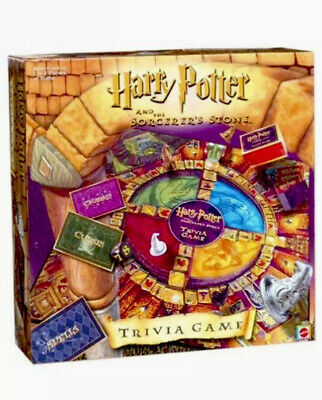Harry Potter And The Sorcerers Stone Trivia Board Game Mattel 2000 Ages 8+ New