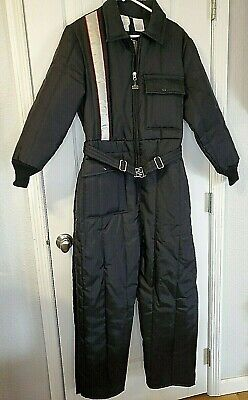 Walls Blizzard Pruf Snow Snowmobile Suit Coveralls Women L 16 18 Black Worn Once