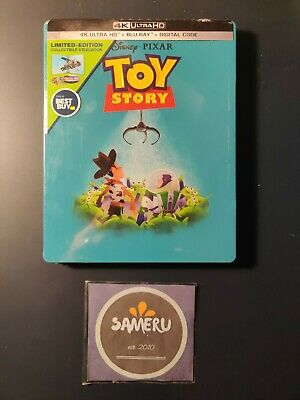 New Toy Story 4K Ultra Hd + Bluray + Digital Code Limited Steelbook Sealed !