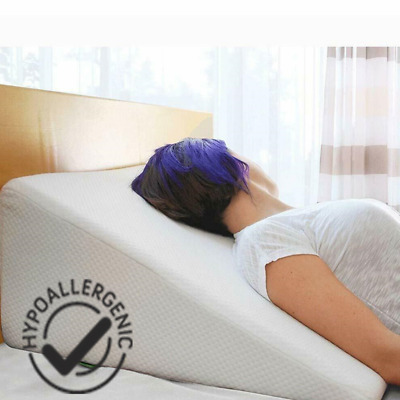 Orthopaedic Acid Re-flux Wedge Shaped Pillow Bed Back Support with Quilted Cover