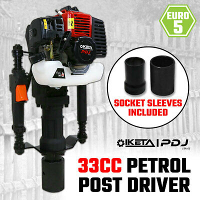 Petrol Post Driver 33cc 2 Stroke Pile Picket Star Rammer Farm Fence Fencing
