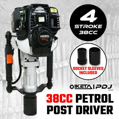 Petrol Post Driver 38cc 4 Stroke Pile Picket Star Rammer Farm Fence Fencing