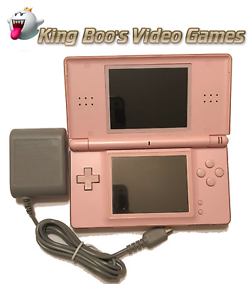 Nintendo DS Lite System w/charger bundle [Pink] Used - Tested & Works Perfectly!