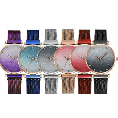 Fashion And Simple Women Magnetic Buckle Alloy Watchband Female Wrist Watch