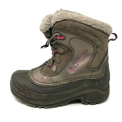 Columbia Girls Big Kid Size 3 BUGABOOT Winter Boots Waterproof Insulated Brown