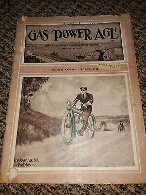 October 1910 Gas Power Age Magazine Hit Miss Engine Old Tractor Advertising