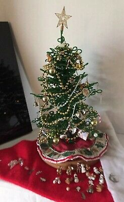 For Westrim Beaded Mini Christmas Tree *50* count GREEN light set with batteries