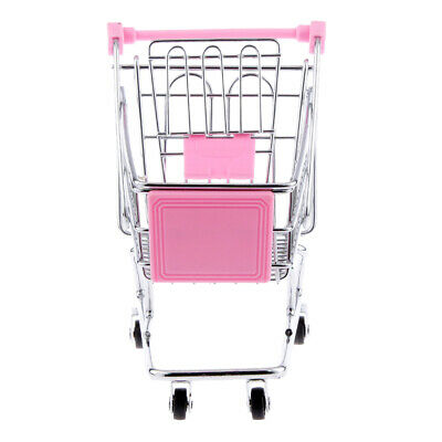 Mini Supermarket Shopping Cart Trolley Toy for Kids Size M Pink
