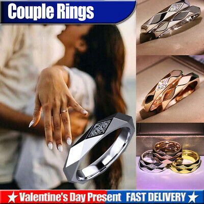 Women Silver Gold Plated Band Ring Thumb Finger Wedding Engagement Jewelry Gift