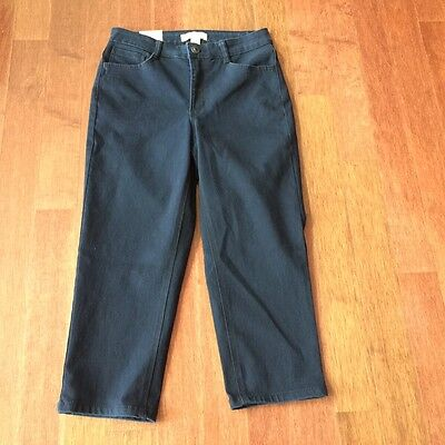 Women's LAURA ASHLEY Capri/Cropped Dark Blue Jeans, Size 6, NEW WITH TAGS