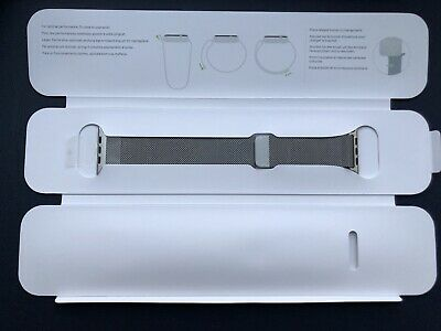 GENUINE Apple Watch Silver Milanese Loop 38mm Band RRP£99