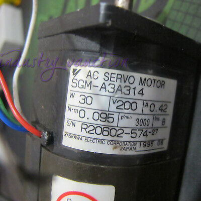 Used 1PC Yaskawa SGM-A3A312 Servo Motor Tested In Good Condition